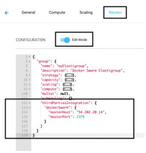 Docker Swarm Integration - Spotinst API