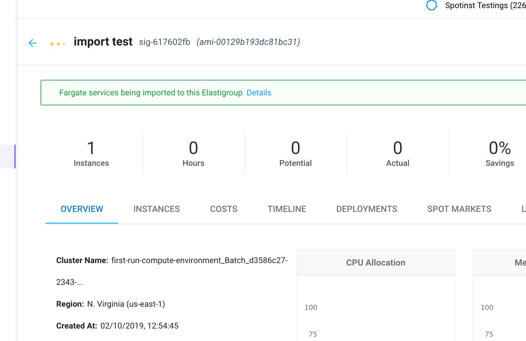 Import Fargate Services to ECS Elastigroup - Spotinst API